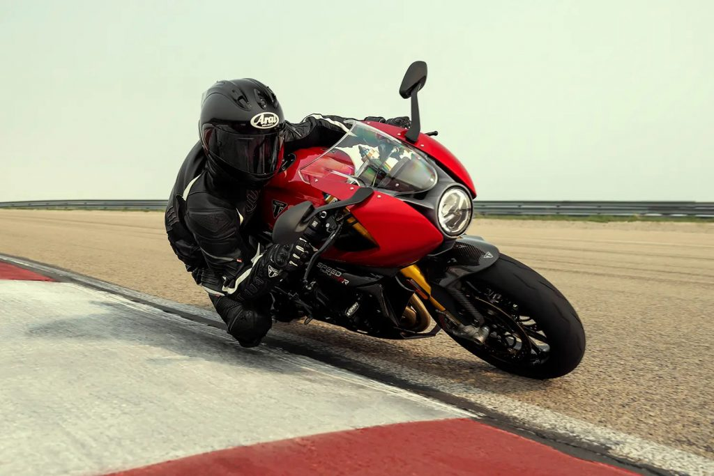A frontal view of the Triumph Speed Triple RR