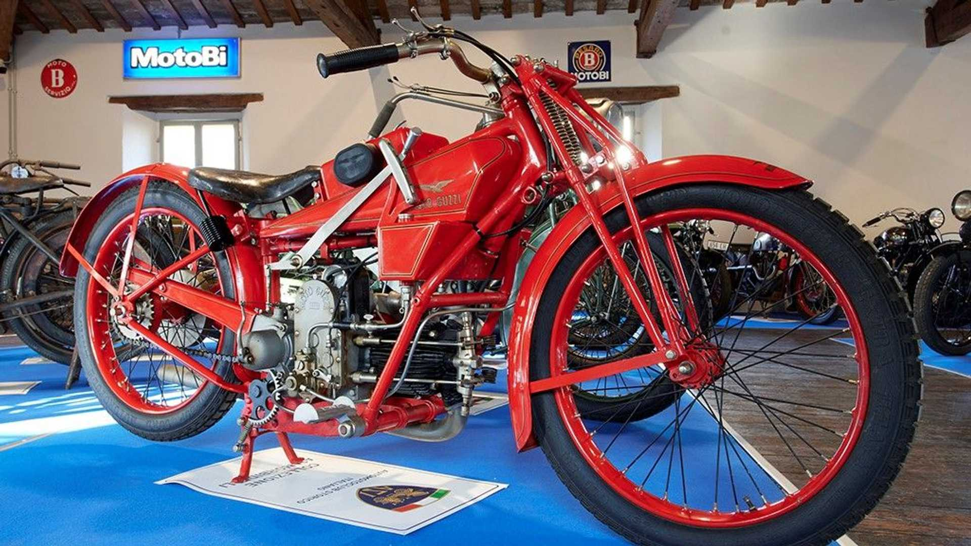 An image from inside the Benelli Museum in Pesaro, Italy