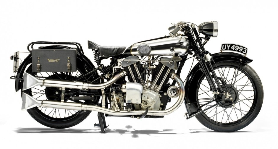 The still-beautiful Brough Superior SS-100 motorcycle from 1924