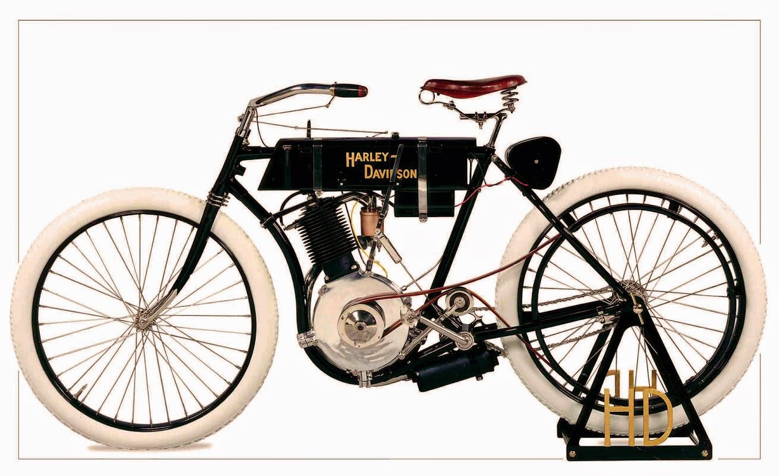 Harley-Davidson Model 1 on white background