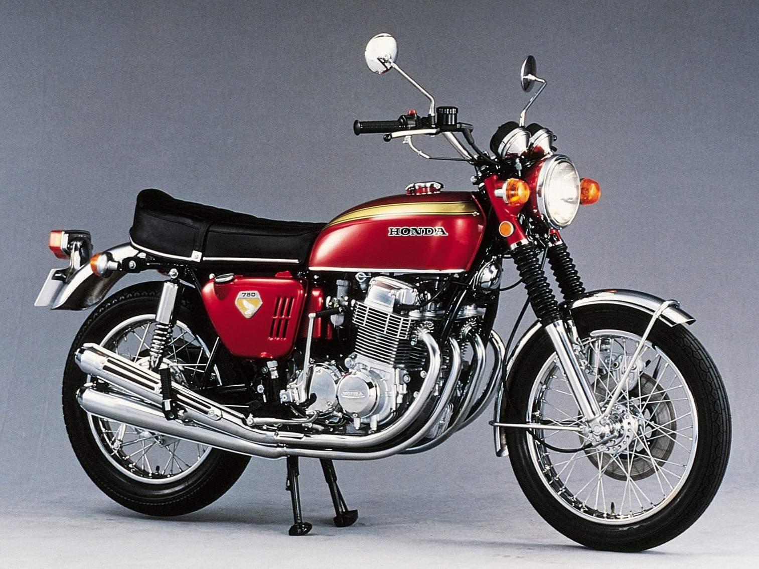 A studio shot of the 1069 Honda CB750 motorcycle